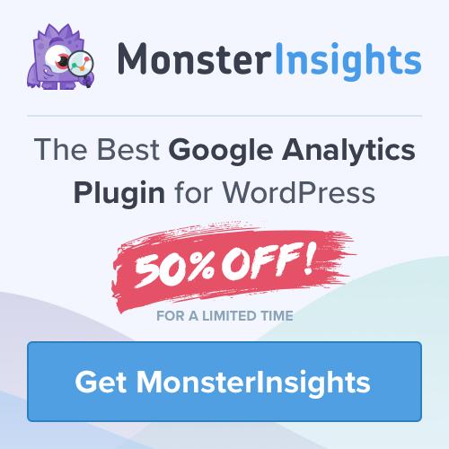 Monsterinsights plugin Google Analytics for WordPress